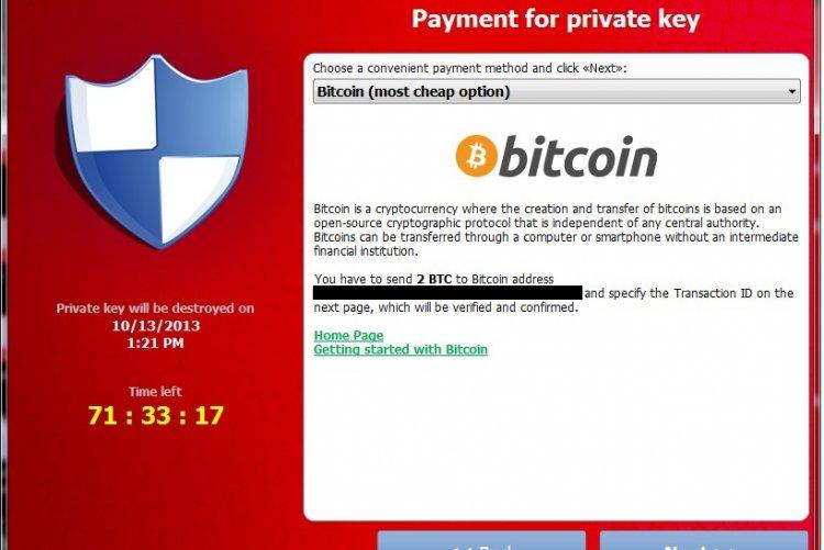 Vrij vertaald: als u niet voor het ultimatum betaalt bent u al uw gegevens voorgoed kwijt..