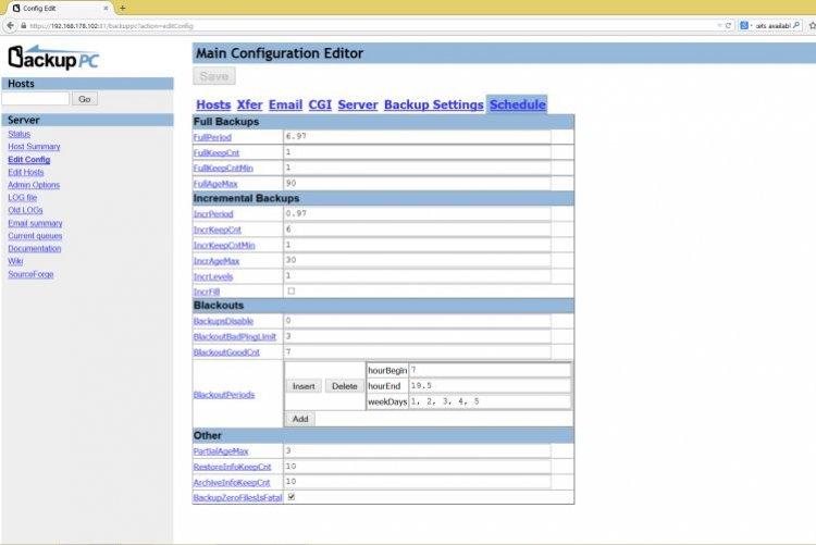 Geautomatiseerde backups van uw bedrijfsdata naar een externe harddisk of netwerk server