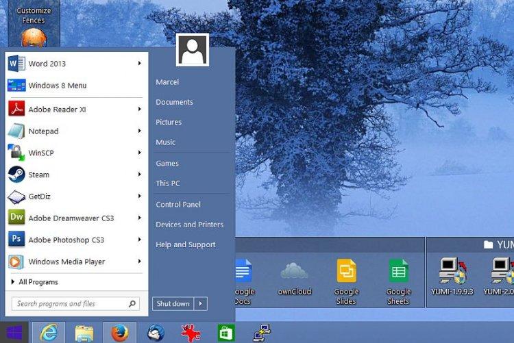 Windows 8 met startknop